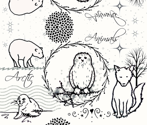 arctic animals fabric by lil_chick_ent_ on Spoonflower - custom fabric