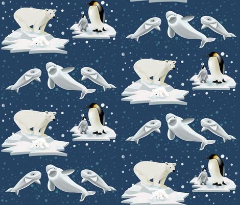 Cold night in Arctic  fabric by bibileb28 on Spoonflower - custom fabric
