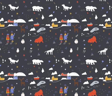 Arctic Hike  fabric by ana_e on Spoonflower - custom fabric