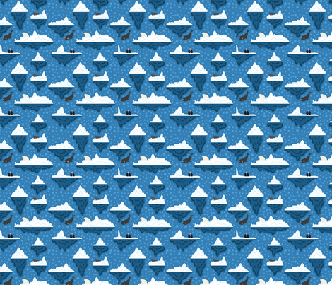 Iceberg arctic  fabric by crafty_narwhal on Spoonflower - custom fabric