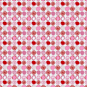 peppermint candy // winter giftwrap xmas holiday christmas fabric -ch