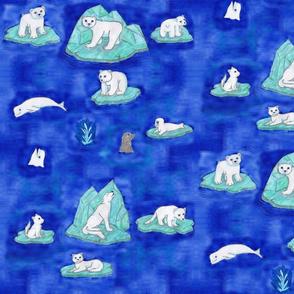 Arctic Animals On Ice