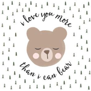 "18"" square - I love you more than I can bear - trees - white"