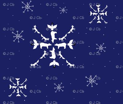ARTIC ANIMAL SNOWFLAKE