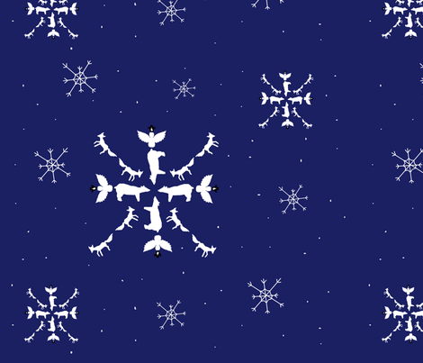 ARTIC ANIMAL SNOWFLAKE fabric by proverbs31girl on Spoonflower - custom fabric