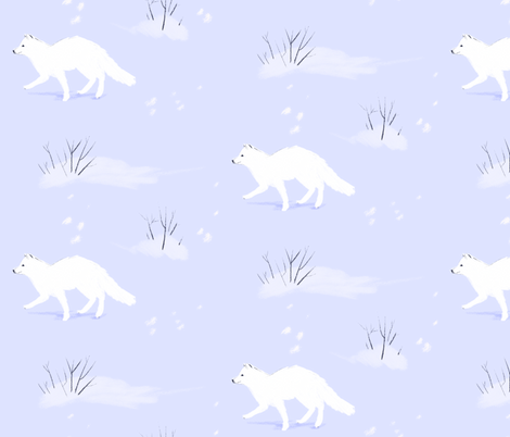 Arctic Fox fabric by fawnpeak on Spoonflower - custom fabric
