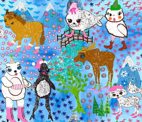 Arctic Fashion fabric by orangefancy on Spoonflower - custom fabric