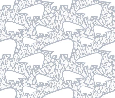Polar Bears  and Snow fabric by chickoteria on Spoonflower - custom fabric