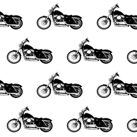 Black Harleys // Small fabric by thinlinetextiles on Spoonflower - custom fabric