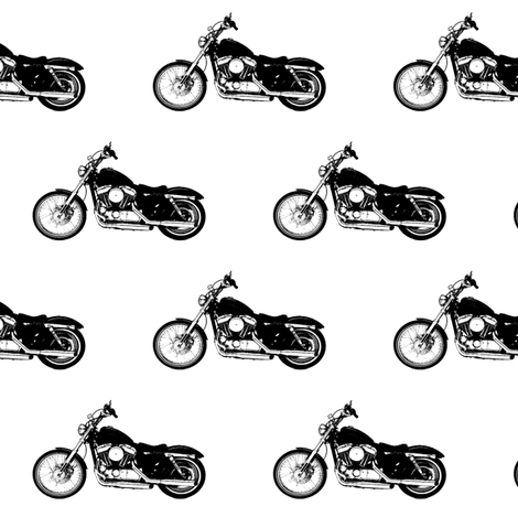 Black Harleys fabric by thin_line_textiles on Spoonflower - custom fabric