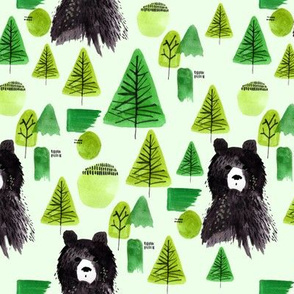Bernard Bear  | Green | Woodland | Black Bear | Forest | Trees