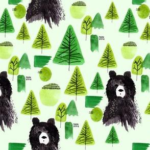 Bernard Bear  | Green | Woodland | Black Bear | Forest | Trees