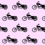 Harleys on Pink // Small