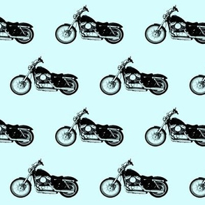 """2.5"""" Motorcycles on Light Blue"""