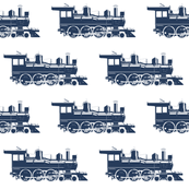 Navy Blue Steam Engines // Large