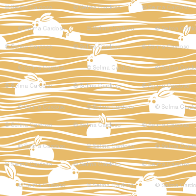 Arctic hares // yellow