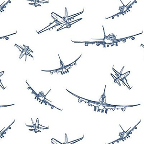 Blue Plane Sketches // Small