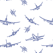 Blue Plane Sketches