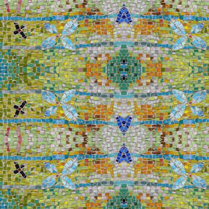 Lime Mosaic wall