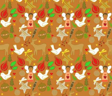 christmas colourful cheer fabric by claireybean on Spoonflower - custom fabric