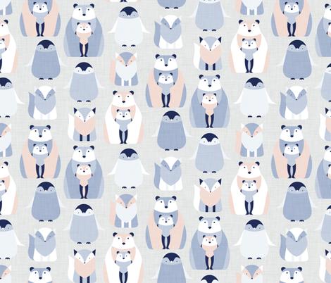 Arctic Animals fabric by matite on Spoonflower - custom fabric