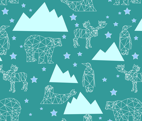 arctic_animals fabric by katja_scheube on Spoonflower - custom fabric
