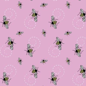 Honeybees Pink Lavender