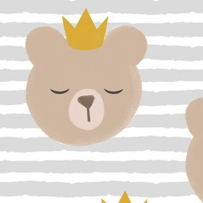 (large scale) bears with crowns - grey stripes