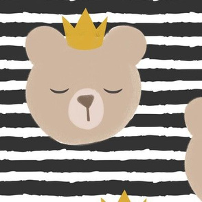 (large scale) bears with crowns - dark grey stripes
