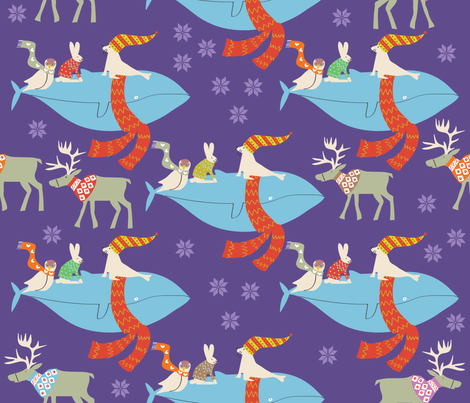 Lost but warm?  fabric by solvejg on Spoonflower - custom fabric