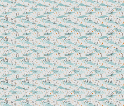 Arctic Animals fabric by rowley_&_elm on Spoonflower - custom fabric