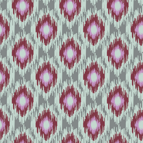 Modern Spring Ikat Dark red Maroon Blue Gray Green Grey Lilac Purple _ Miss Chiff Designs  fabric by misschiffdesigns on Spoonflower - custom fabric