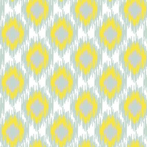 Modern Spring Ikat Spots Dots Diamond Aqua Blue Yellow White Gray Grey Green _ Miss Chiff Designs