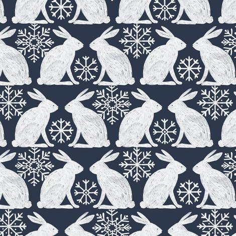 Snow Rabbit fabric by allierunnion on Spoonflower - custom fabric