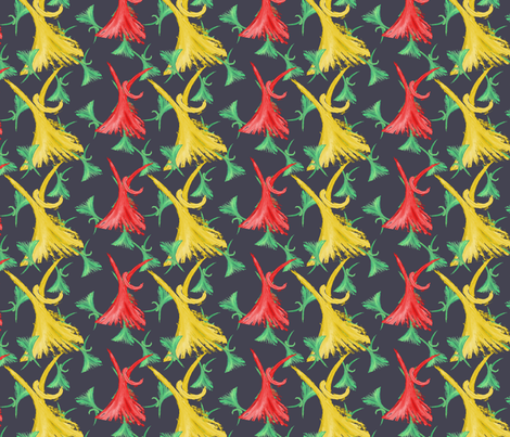 Dancing fabric by lilo_m on Spoonflower - custom fabric