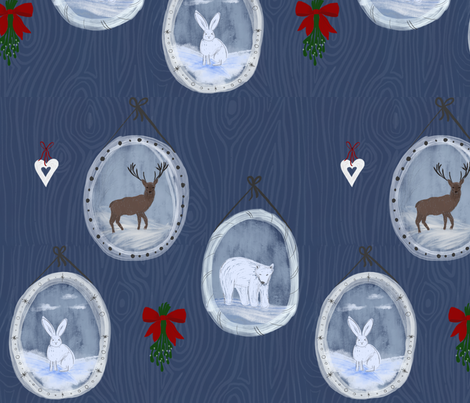 winter vignettes fabric by katielee on Spoonflower - custom fabric
