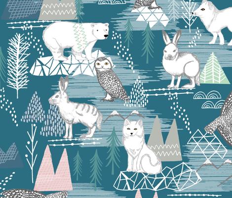 arctic animals fabric by suzyspellbound on Spoonflower - custom fabric