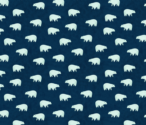 Cozy Polar Bears fabric by tarynosaurus on Spoonflower - custom fabric