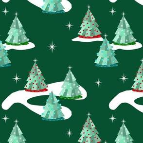Mid Century Style Christmas Trees