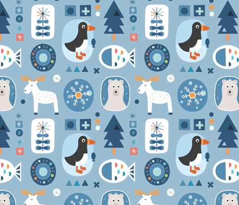 Arctic fabric by la_fabriken on Spoonflower - custom fabric