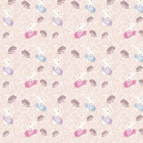 bunny wallpaper - pale pink