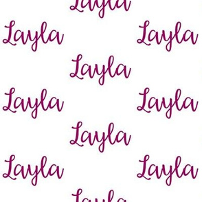 Layla - Orchid on White
