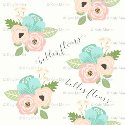 floral fabric belles fleur