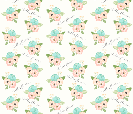 floral fabric belles fleur fabric by themamashop on Spoonflower - custom fabric