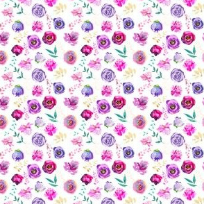 """Purple and Gold Floral Toss 2"""""""