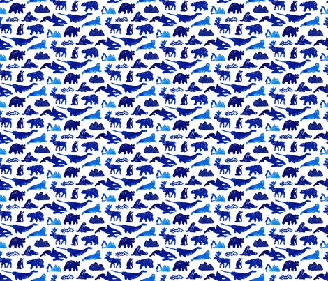 Arctic blue fabric by artishark on Spoonflower - custom fabric