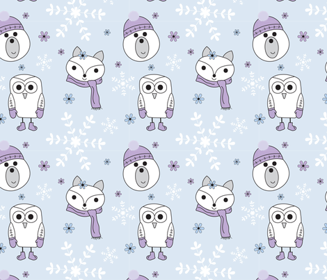 Arctic Friends fabric by shinebrightoday on Spoonflower - custom fabric