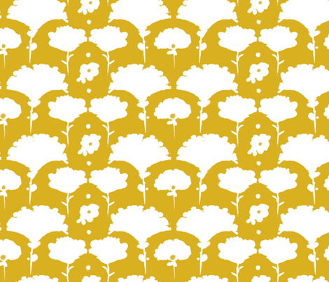 silhouette blooms fabric by alison_janssen on Spoonflower - custom fabric