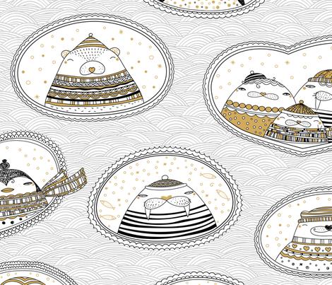 Arctic Neighbours fabric by elmira_arts on Spoonflower - custom fabric