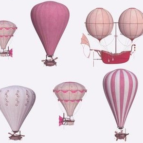 very pink hot air balloons